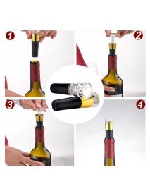 KCASA KC-SP101 Red Wine Vacuum Retain Freshness Bottle Stopper Preserver Sealer Plug