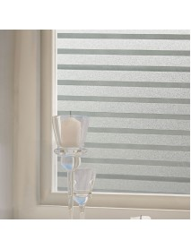 KCASA S151 45cmX200cm Modern Stripe Pattern Glass Stickers Bathroom Balcony Sliding Door Frosted Gla