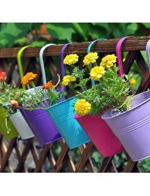 10Pcs Iron Metal Hanging Flower Pot Balcony Plant Garden Planter Home Decorations