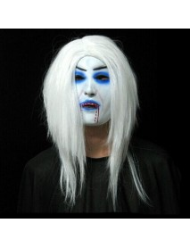 White Hair Bleeding Mask Ghost Festival Halloween Mask Masquerade Mask Party Supplies Props