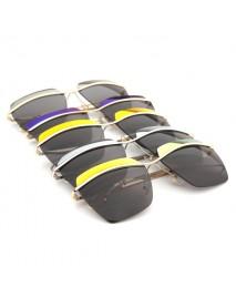 2015 UV400 Women Sunglasses Rimless Golden Frame Metal Mercury Square Glasses