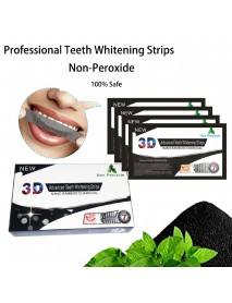 14 Pcs 3D Bamboo Charcoal Mint Non-peroxide Whitening Tooth Paste Strips Whitening Tooth Stain Removing And Yellow Removing Dental Tools