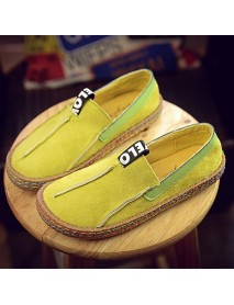 Big Size Women Casual Round Toe Soft Sole Shoe Pure Color Flat Loafers