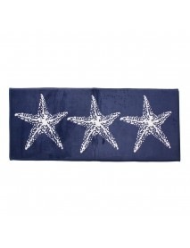 45x115cm Anti-slip Soft Flannel Door Mat Kitchen Floor Rug Bathroom Carpet Blue