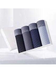 4 Pieces Men Big Size Ice Silk U Convex Breathable Comfy Casual Boxer Underwear