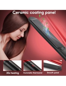 120-200 2 In 1 Ceramic Hair Straightener Hair Curly 10 Gears Temperature Control LCD Digital Display Flat Iron