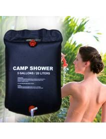 1/2 Pcs/set Portable Solar Camping Shower Bag 20L Travel Shower Bath Bag Water Bag BBQ Hiking Water Storage Solar Heat Water