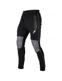 Men's Running Sweatpants Casual Color Block Zipper Pocket Outdoor Training Sport Pants