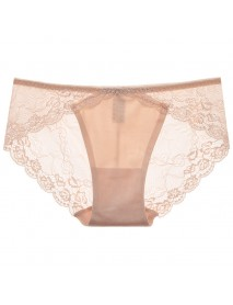 Floral Lace Seamless Low Rise See Through Attractive Briefs