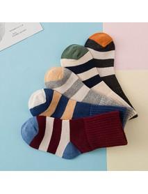 5 Pairs Kids Children Socks Winter Colorful Socks Cotton Stripes Ultra Soft Crew Socks 3-12 Years