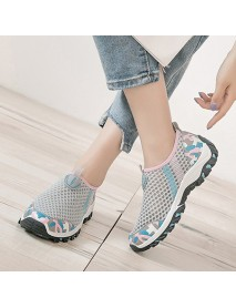 Casual Mesh Breathable Walking Sneakers Slip On Women Shoes