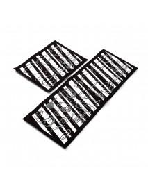 2Pcs Kitchen Floor Carpet Non-Slip Area Rug Bathroom Door Floor Mat Set