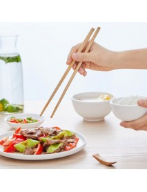 YIWUYISHI Kitchen 25Pair/50PCS Nature Bamboo Chopsticks Set Comfortable Environmentally Friendly Tableware Set  From Xiaomi Youpin