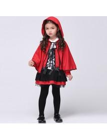 Cute Little Girls Little Red Devil Cosplay Costume Halloween Little Red Riding Hood Costume
