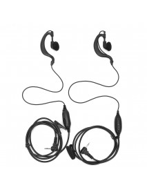 2pcs G Shape Clip Ear Headset Earpiece for Motorola Talkabout Radio Walkie 2.5mm