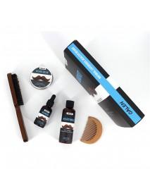 6pcs Men Beard Grooming Kit Growth Beard Balm Oil Beard Comb Brush Wash XMAS GIFTS
