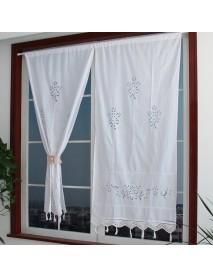 70x150cm Living Room Curtains Hand Crochet Cotton Window Curtains Panel Drape Country