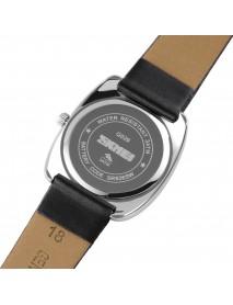 SKMEI Q029 Fashion Women Watch Creative Dial Leather Strap Casual Lady Quartz Watch