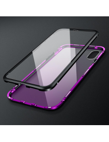 Bakeey 360 Full Body Magnetic Adsorption Aluminum Front & Back Glass Protective Case