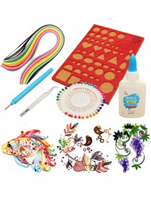 1 Set Creations Paper Quilling Kit Slotted Tools Pins Tweezer Board DIY Craft