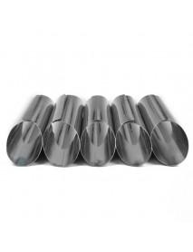 8 Pcs Danish Tube Cream Molds Stainless Steel DIY Croissant Mold Baking Mold Cake Tools