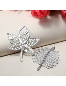 2Pcs Maple Leaf Metal Die Cutting DIY Scrapbook Photo Paper Gift Party Decor