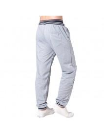 Men's Elastic Waist Drawstring Loose Casual Pants Comfort Stripe Waistline Sports Trousers