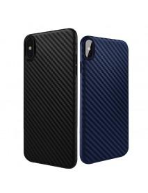 Bakeey Carbon Fiber Anti Fingerprint PP Case For iPhone X