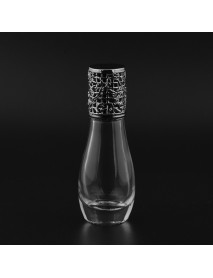12ml Empty Perfume Bottle Metal Roller Ball Glass Bowling Shape Bottles Refillable Container
