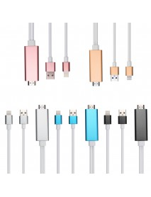 1080P Micro USB MHL to High-Definition Multimedia Interface Display Dongle Cable for iPhone
