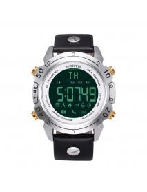 NORTH NS-7008 Chronograph Waterproof Bluetooth Watch Leather Strap Sport Men Smart Watch