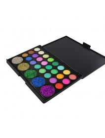 29 Colors Diamond Eye Shadow Palette Shimmer Matte Eye Cosmetic Long Lasting