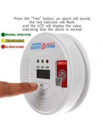 2in1 Smoke Alarm CO Carbon monoxide integrated alarm Detector Warn Sensor LCD