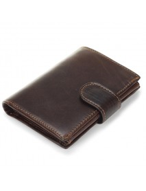 11 Card Holders Vintage Genuine Leather Oil Wax Coin Bag Hasp Wallet For Men
