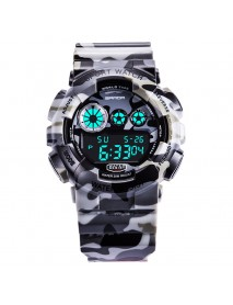 SANDA 289 Digital Watch Camouflage Style Military Waterproof Men Sport Wrist Watch