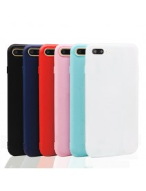 Bakeey Candy Color Matte Soft Silicone TPU Case for iPhone 7Plus/8Plus