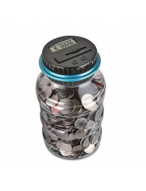 Electronic Digital Counting Coin Money Saving Box LCD Display Piggy Bank Card Box Gift