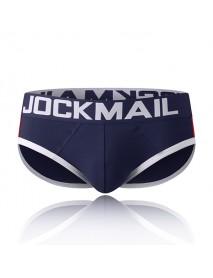 JOCKMAIL Mens Sexy Detachable Padded Underwear Cotton Patchwork U Convex Briefs