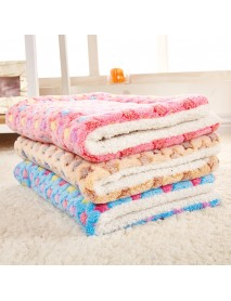 4 Sizes Soft Cosy Warm Fleece Pet Dog Cat Animal Blanket Velvet Bed Mat Cozy Pad Pet Mat