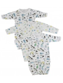 Bambini Infant Gowns - 3 Pack