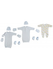 Preemie Boys Sleep-n-Play, Gowns, Caps, Booties and MIttens