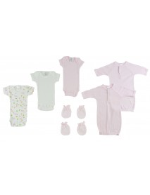 Preemie Girls Onezies, Gowns and MIttens