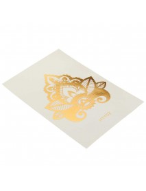 1Pcs Non Toxic Safe Sheet Hair Temporary Tattoo Stickers  Easy To Apply Transfer And Remove