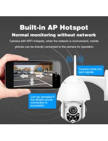 1080P 2MP Wireless Waterproof WIFI IP Security Camera Intercom Night Vision CCTV ONVIF Protocol AP Hotspot