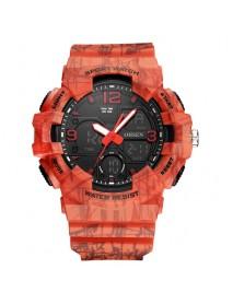 OHSEN AD1711 Fashionable LED Display Men Wrist Watch 5ATM Waterproof Sport Digital Watch