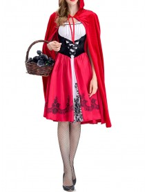 Halloween Costumes Carnival Cloak Patchwork Cosplay Party Mini Dress