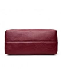 3 Main Pockets Women Casual PU Leather Handbag Crossbody Bag