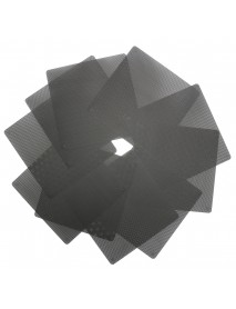 10X Black 140mm PVC Computer PC Cooler Fan Case Cover Dust Filter Mesh Cuttable Dust-proof Net