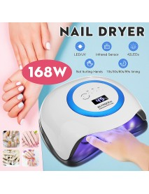 168W UV Lamp Nail Dryer Pro UV LED Gel Nail Lamp Fast Curings Gel Polish Ice Lamp for Nail Manicure Machine
