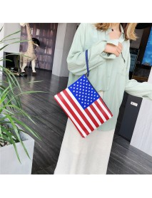 Fashion American Flag Independence Day Personality Clutches Bag Handbag Envelope Bag